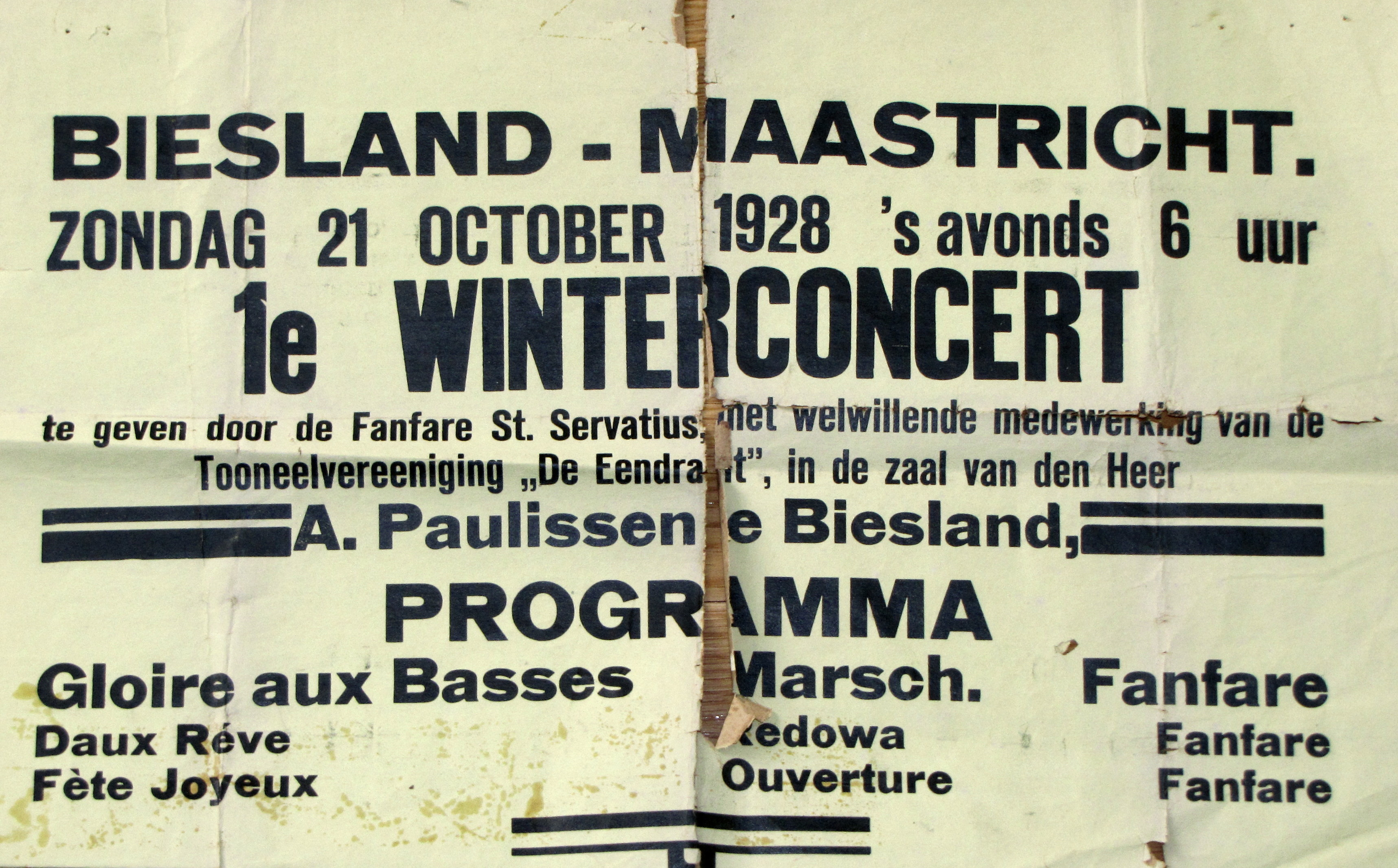 poster concert 1928
