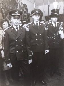 Voorstelling nieuwe uniformen 1964 Habets-Nijs-Doyen